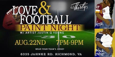 LOVE & FOOTBALL PAINT NIGHT tickets