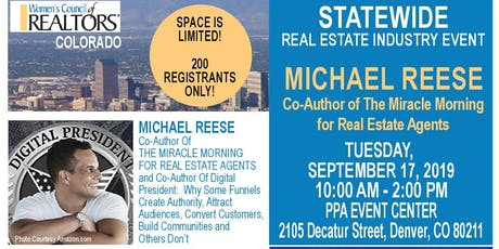 STATEWIDE Real Estate Industry Event - Michael Reese (The Miracle Morning) tickets