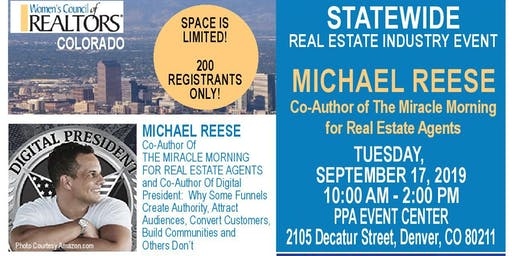 STATEWIDE Real Estate Industry Event - Michael Reese (The Miracle Morning)