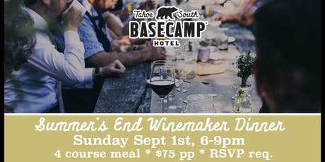 Summer's End Winemaker Dinner tickets