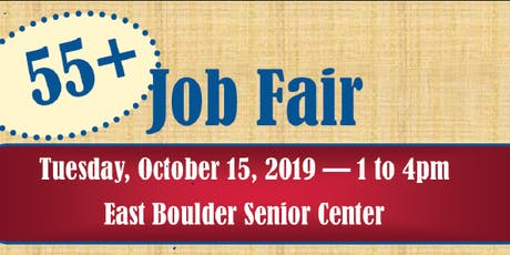 2019 55+ Boulder Job Fair tickets