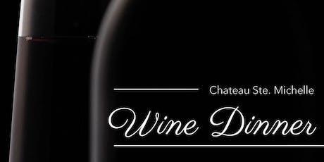 Chateau Ste. Michelle, Wine Dinner  tickets