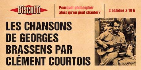 Les chansons de Georges Brassens par Clément Courtois tickets