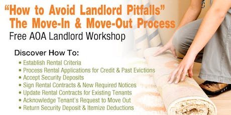 The Move-in & Move-out Process - How to Avoid Landlord Pitfalls (BP) tickets