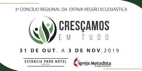 3º CONCÍLIO REGIONAL DA OITAVA REGIÃO ECLESIÁSTICA ingressos