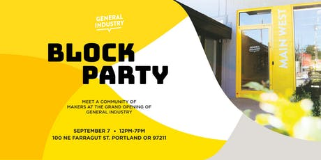 General Industry Block Party tickets