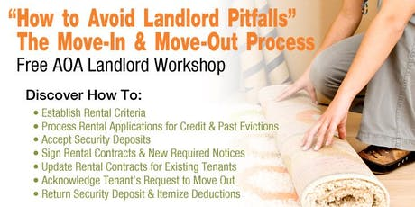 The Move-in & Move-out Process - How to Avoid Landlord Pitfalls (SD) tickets