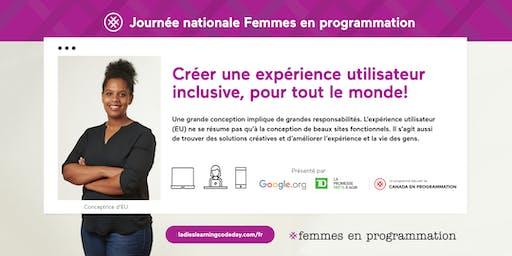 Femmes en programmation: Journée nationale d'initiation à la programmation : Introduction à la conception d'expérience utilisateur (EU) - Quebec City (en français)