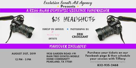 Kiss Away Domestic Violence Professional Headshots Fundraiser tickets