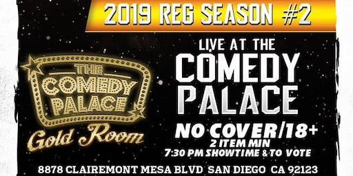 San Diego Comedy League 2019: S2: TCP Gold Room - Sat.Sep. 21st 7:30pm