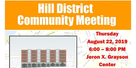 Hill District Community Meeting - August 22, 2019 tickets