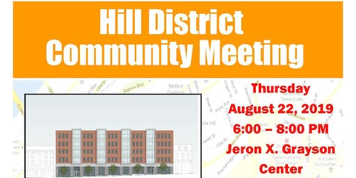 Hill District Community Meeting - August 22, 2019