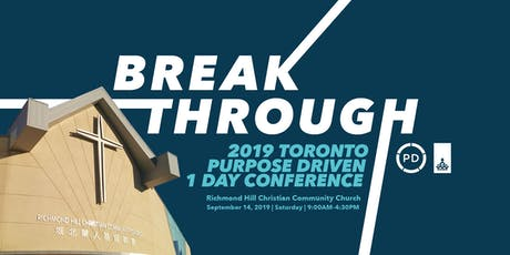 2019 Toronto Purpose Driven 1 Day Conference tickets