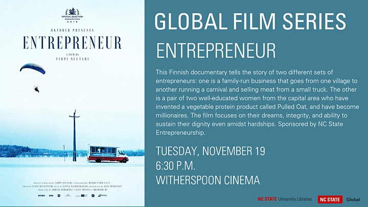 Global Film Series: Entrepreneur image