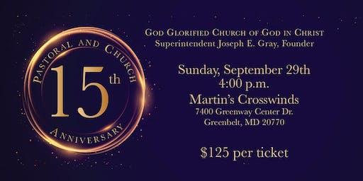 God Glorified COGIC 15th Church and Pastor Anniversary