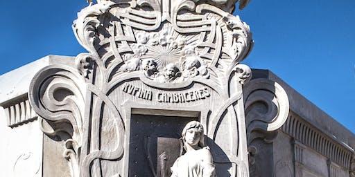 CURSO arquitectura funeraria de Recoleta. Art Nouveau, Déco y otros estilos