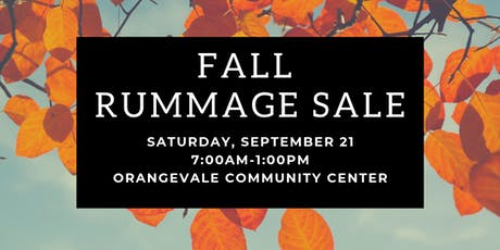 OVparks Fall Rummage Sale tickets