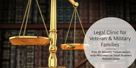 VBRC Legal Clinic for Veteran Business Owners tickets
