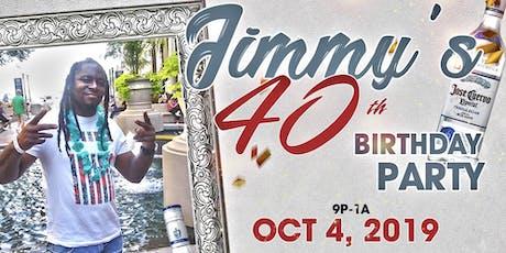 Birthday Bash: Jimmy's Celebrating 40 tickets