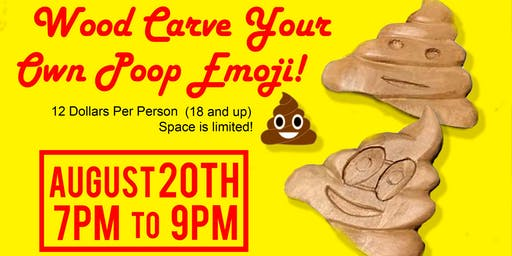 Wood Carve Your Own Poop Emoji!