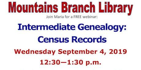 Intermediate Genealogy: Census Records tickets