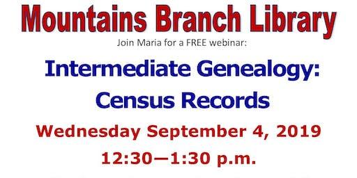 Intermediate Genealogy: Census Records