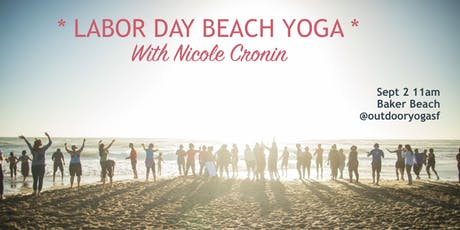 LABOR DAY! Beach yoga with Nicole Cronin  tickets
