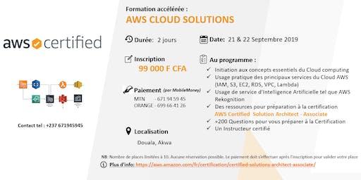 AWS CLOUD SOLUTIONS TRAINING : 2 jours de Formation accélérée (Préparation à la certification AWS Cloud Practitioner)
