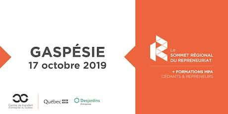 Les Rdv du repreneuriat - Sommet régional du repreneuriat en Gaspésie + Formations MPA tickets
