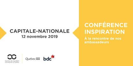 Les Rdv du repreneuriat - Conférence Inspiration dans la Capitale-Nationale billets