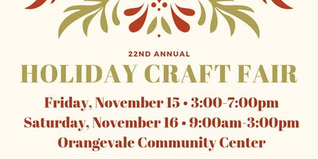 22nd Annual Holiday Craft Fair tickets