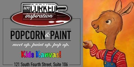 Kids Kanvas | Llama tickets