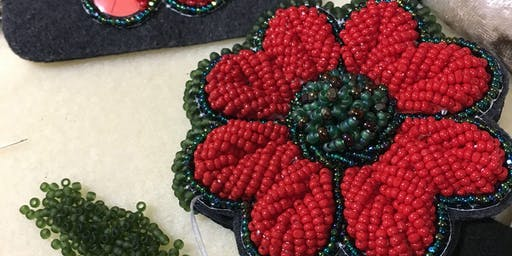 We Remember Beaded Poppy Workshop with Naomi Smith - Two Day Workshop
