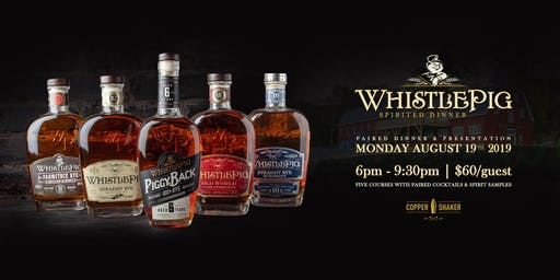 Copper Shaker and Whistle Pig Present: A Spirited Dinner