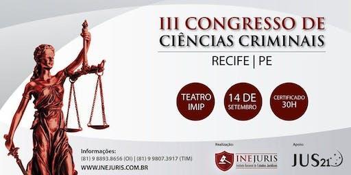 Congresso de Ciências Criminais - Recife