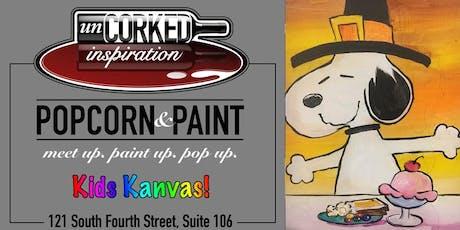 Kids Kanvas | Snoopy's Thanksgiving tickets