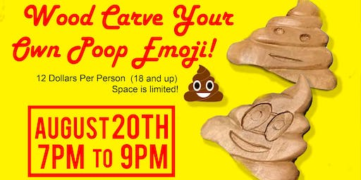Copy of Wood Carve Your Own Poop Emoji!