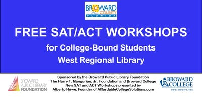 Free SAT/ACT Workshops @ West Regional Library- Seniors & Juniors only.