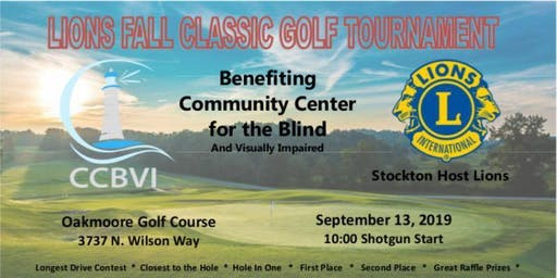 2019 Stockton Host LIONS Fall Classic Golf Tournament