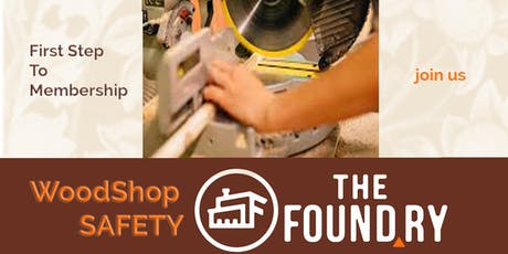 October Woodshop Safety Class tickets
