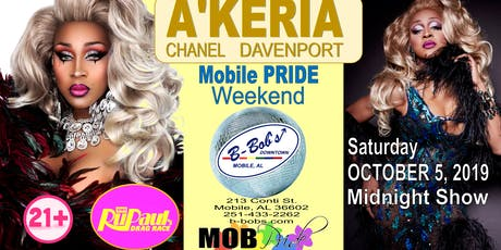 A'Keria Chanel Davenport from RPDR at B-Bob's for Mobile Pride! tickets