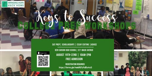 Keys To Success: College Prep Workshops| FREE!!