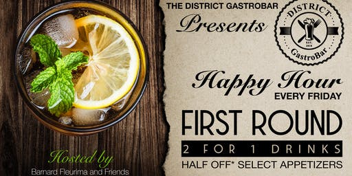 "First Round ""THE'' Happy Hour"