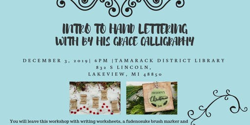 Intro to Hand Lettering with By His Grace Calligraphy