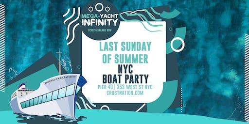 NYC #1 Sunset Yacht Cruise - Last Sunday of Summer on Hornblower's Mega Yacht Infinity - Boat Party