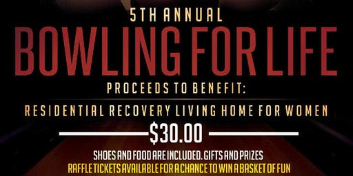 """Bowling Fundraiser """"Bowling For A Life"""""""