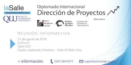 Sesión Informativa: Diplomado Internacional de Dirección de Proyectos y Métodos Ágiles, laSalle 2019 tickets
