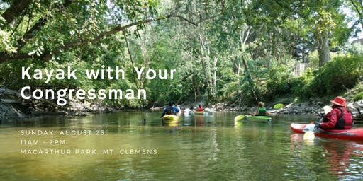 SOLD OUT: Kayak with Your Congressman