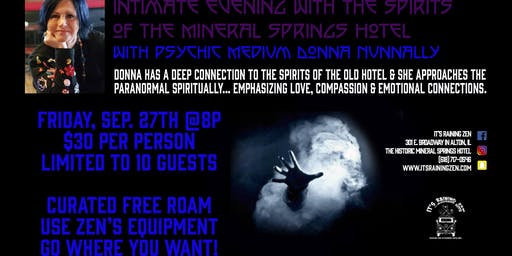 Intimate Evening with the Spirits of Mineral Springs