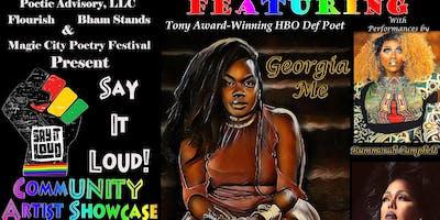 Say It Loud! A Bham Black Pride Artist Showcase Featuring Georgia Me